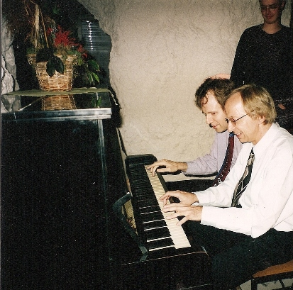Mr. Brzuza with the pianist Kevin Kenner, one of his former students and winner of the 1990 International Chopin Competition.